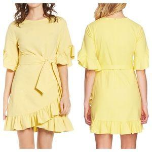 NWT 1. State Asymmetrical Ruffle Wrap Dress